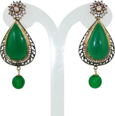 Anjan Gorgeous Designer Crystal Brass Drop Earring