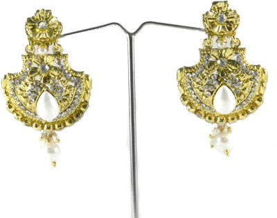Tradeyard Impex Pretty Cubic Zirconia Alloy Chandbali Earring