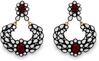 SuvidhaArts Trendy Fashion Cubic Zirconia Metal Chandbali Earring