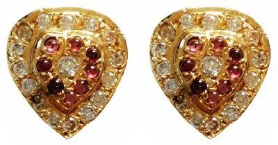 Blingxing Golden Heart Metal, Alloy Stud Earring