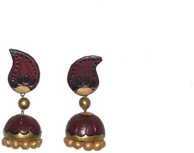 Aanya Creations Beadworks Ceramic Jhumki Earring