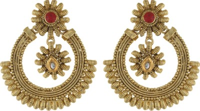 Dimple Creation spring sparkle Alloy Chandbali Earring