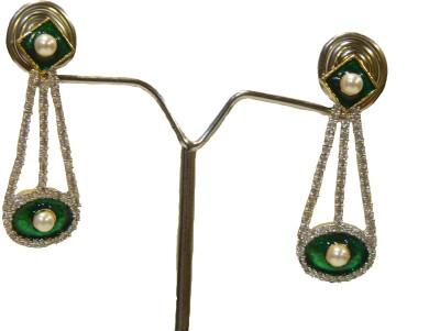 Aakhya EAR13G Diamond Rose Gold Drop Earring