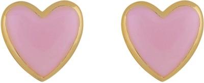Amroha Crafts Pink Crush Metal Stud Earring