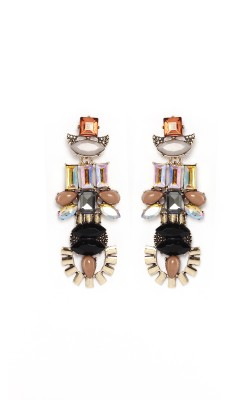 Rudrani Geometric Shape Titanium, Alloy, Crystal Drop Earring