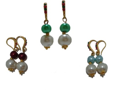 Sharun Collections Classy Ethanic Pearl Steel Earring Set