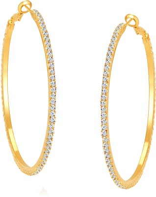 ShoStopper Fabulous Australian Diamond Alloy Hoop Earring