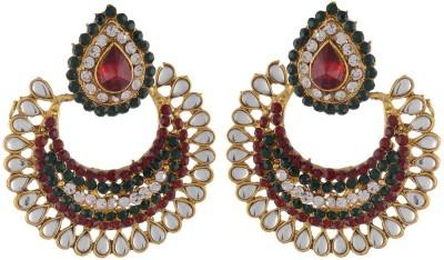 NECKIES AFJE065 Brass Chandbali Earring