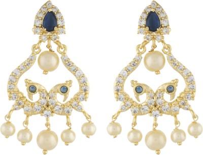 Jewel Planet Stylish Pearl Alloy Chandbali Earring