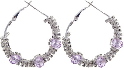 Silverkartz Princess Delight Cubic Zirconia Alloy Hoop Earring