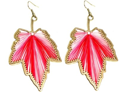 Krishna Mart A Pair Of Indian White Boho Hippie Fashion Earrings Metal Dangle Earring