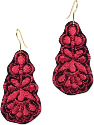 Supriya Designer Embroidery Fabric Dangle Earring