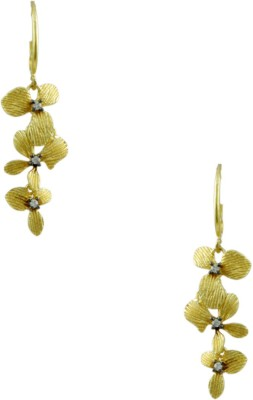 Orniza Victorian Earrings in Golden Color and Black Gold Polish Brass Hoop Earring