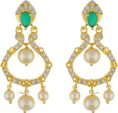 Jewel Planet Latest Design Pearl Alloy Chandbali Earring