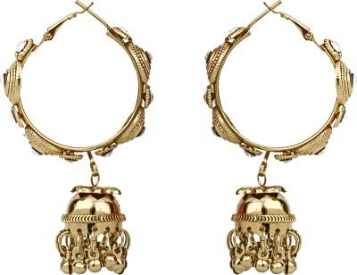 Foxy Designer Golden Jhumki Alloy Jhumki Earring