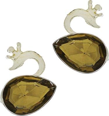 Being Snazzy Swan Lake Crystal Ceramic Hoop Earring