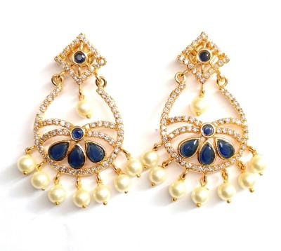High Fashion AD Cubic Zirconia Metal Chandbali Earring