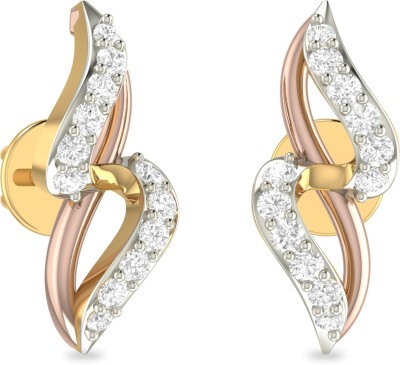 WearYourShine by PC Jewellers PC Jeweller The Darerca Yellow Gold 18kt Diamond Stud Earring at flipkart