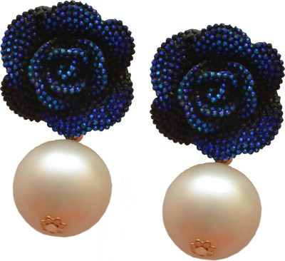 Jewel Touch Fab Floral Midas Pearly Alloy Drop Earring