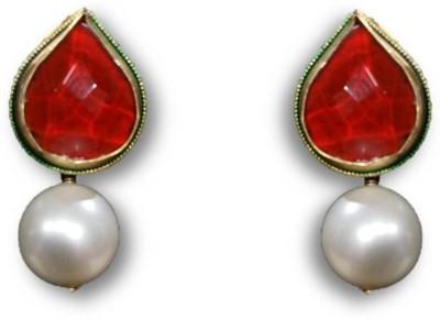 Rajgharana Red Drop Cubic Zirconia Alloy Drop Earring