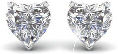 ArietteJewels Ariette Jewels Heart Stud Earring White Gold Stud Earring