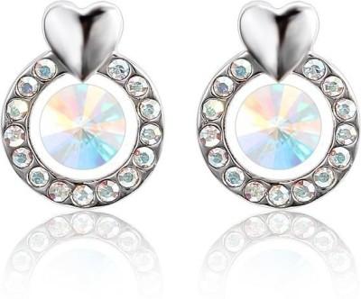 Ouxi Swarovski Elements Shiny Crystal Zinc Stud Earring