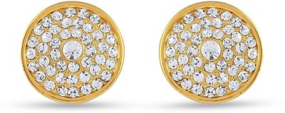 Rich Lady RICH LADY VIVACIOUS LOVE THEME CLASSIC STUDS Brass, Stone Stud Earring