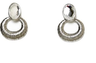 UV Instyle Women's Silver Danglers Alloy Stud Earring