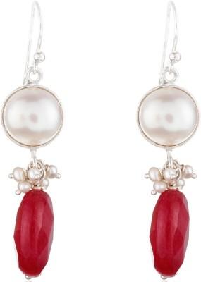 Aarohee Red Elegance Onyx Sterling Silver Dangle Earring