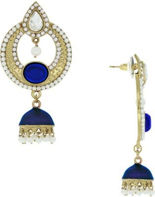 Spargz Antique Designer Pearl Studded Earring Diamond, Pearl Alloy Jhumki Earring