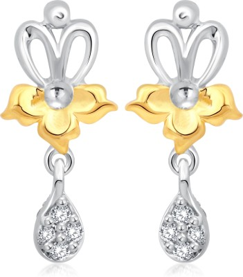 Classic Shinny Gold And Rhodium Plated Earrings for Women [CJ1013ERG] Cubic Zirconia Alloy Drop Earring