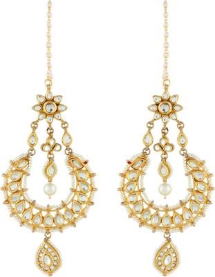 Aadi Creations Pearl Beauty Copper, Brass Dangle Earring