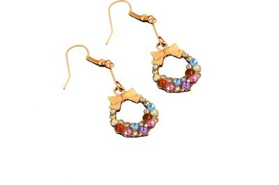 Ak Zopping Collection Alloy Multicolor Diamond Dangle Earring Metal Drop Earring