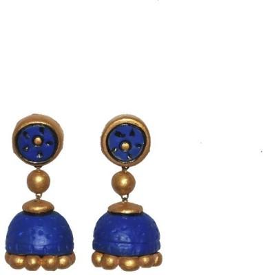 Aanya Creations Terracotta Handmade Ceramic Jhumki Earring