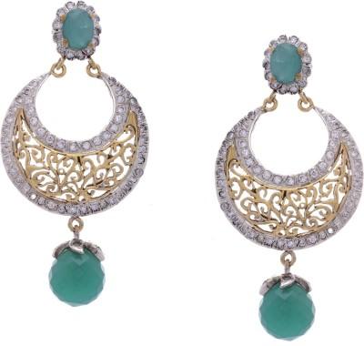 Hyderabad Jewels Silver, Alloy Chandelier Earring