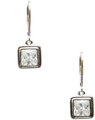 LeCalla Must Have Solitaire Sterling Silver Dangle Earring