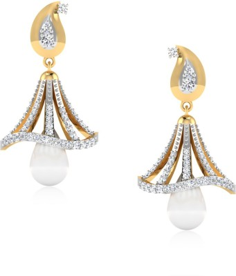 IskiUski The Gracious Swarovski Crystal Gold Jhumki Earring at flipkart