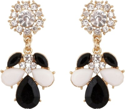 Amroha Crafts Bling of Monochrome Alloy Drop Earring