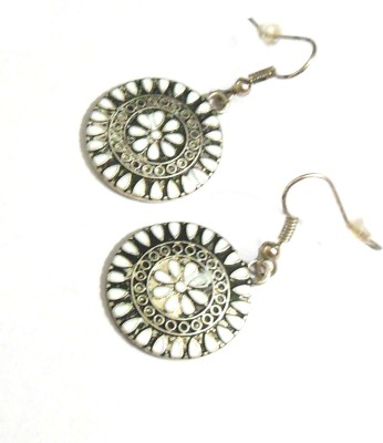Bohocraft Bohemian Pretty Floral Round Metal Dangle Earring