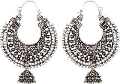 Crazytowear Oxidised Antique jhumkis Alloy Hoop Earring