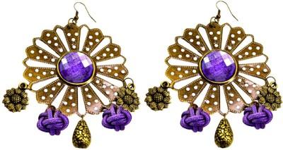 Krishna Mart A Pair Of Indian Brass Danglers Earrings Brass Dangle Earring