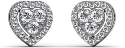 Adara Jewels Hearts On Fire Swarovski Crystal Sterling Silver Stud Earring