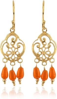 Thingalicious Beautifully Beaded Dainty Alloy Chandelier Earring
