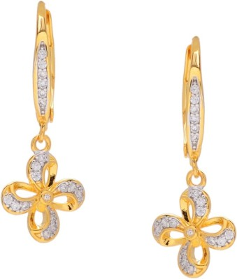 Gehnamart Floral Royal Alloy Clip-on Earring
