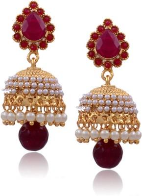 Prisha ATGOL2017 Pearl Copper Jhumki Earring
