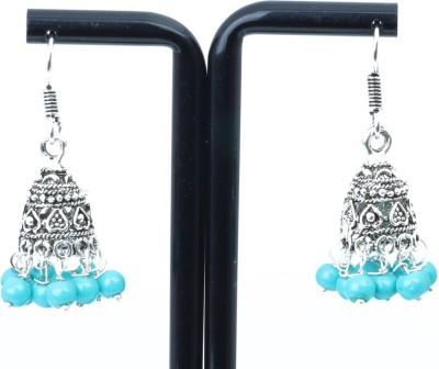 Waama Jewels charming blue Metal Jhumki Earring