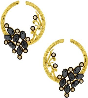 the jewelbox Flower Victorian Crystal Brass Stud Earring