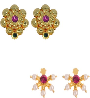 Womens Trendz Combo Pack of Two Crystal Alloy Earring Set