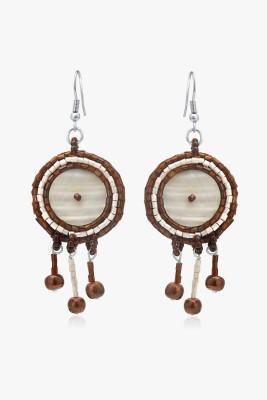Tvesha Spring Sparkle Wood Dangle Earring