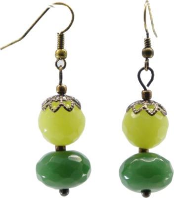 TATWAA THE ELEMENTS Green wave2 Stone Dangle Earring